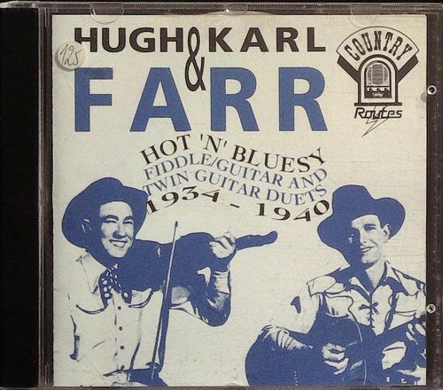 HUGH & KARL FARR  Texas Stomp - Hot Fiddle/Guitar  CD  COUNTRY ROUTES